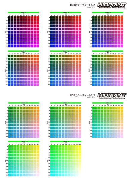 画像1: RGBカラーチャート (1)